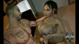 Sheva Alomar get her big tits fucked and a pearl necklace