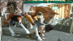 Lara anal with Horse