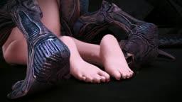 Xeno sex feet view (scene 077)