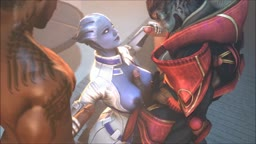 Liara and the Normandy Crew