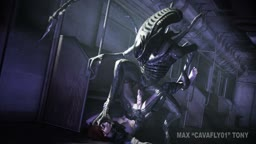 A friendly Xenomorph (Scene 086)