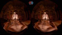 Trishka gets her tits fucked in VR (full clip)