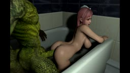 SFM Honoka and lizardman 2