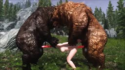 Skyrim - Two Bears One Girl