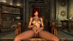 Redhead Skyrimgirl's Maturbation
