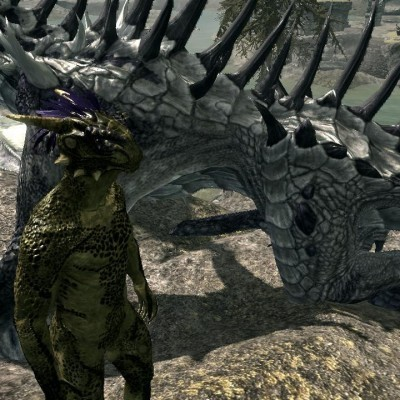 Skyrim Gay Argonian and dragon dong