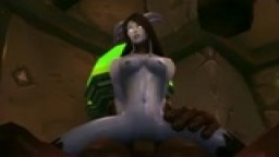 Draenei and Fel orc
