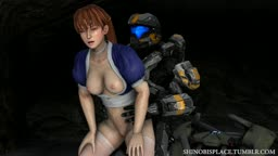 Kasumi and a Halo Spartan