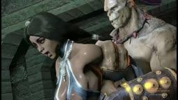 Kitana raped by Goro (Mortal Kombat)