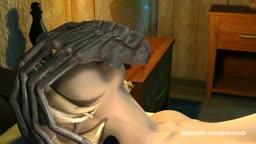 Alien Pumping girl with cum