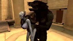 Liara X Werewolf (Test_Footage + Breast Expansion)