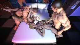 Mortal Kombat XXX Sonja and Cassie Cage