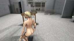 blonde forced to dance and stripped by boss part 4