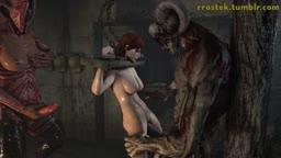 Female Shepard in hell