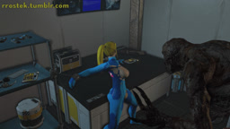 Samus trapped with monsters