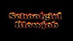 schoolgirl blowjob