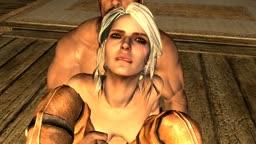 Ciri raped by the Dragonborn - Part 1