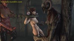 Female Shepard Demon fucking Bondage angle2