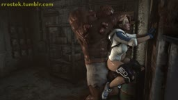 Cassie Cage bulged by big Monster