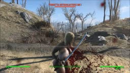 Fallout 4 Nude Mod - Leila and Machine Gun