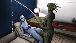 Liara and Argonian Receives a Huge Amount of Love