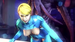 The Monster Infiltrating the Ship and Pussy of Samus