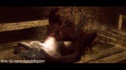 [Remake] Fem werewolf x futa argonian request