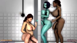 Gloryhole Threesome - Soria, Sheva and Zeena