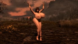 Skyrim Nude Mod - Karen - Sexy Dance