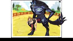 Female and Alpha Wolf