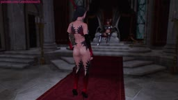 Futa x Female throne room