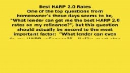 Best HARP 2.0 Rates - Exactly where To Begin if You're New to HARP