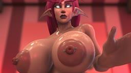 Night Elf Futa Fills a Condom