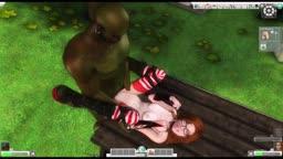 Monster threesome 7