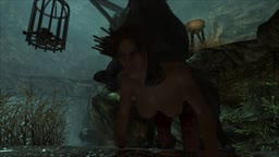Skyrim - Lara croft faces a wolf (Part 2)