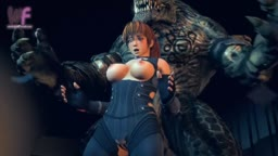Kasumi gets Fucked by a Bunch of Monsters