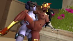Overwatch Widowmaker and Symmetra having some fun ;) FutaxFem+FutaxFuta