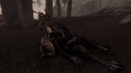 A couple of khajiits fucked by a werewolf