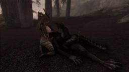 A couple of khajiits fucked by a werewolf