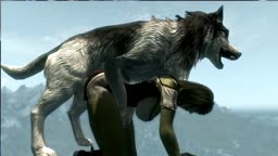 skyrim bilyy's mod test 2 Husky dog