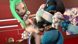 Lisia and Lucario training beauty contest