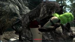 Skyrim Billyy's mods test Wolf thresome