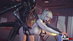 Samus VS Xeno Uncensored Monster (26RegionSFM)