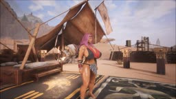 Conan Exiles - Paula: new body, new face, new look - Striptease....
