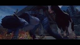 Khajiiti Teen takes Horse Cock from behind