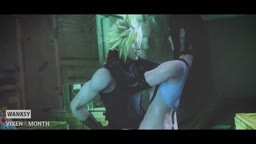 Tifa and Cloud squeeze in a quickie