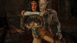 Skyrim High-Elf gets a visit from a horny falmer