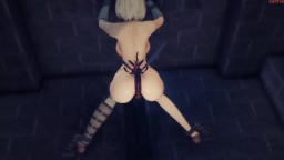 Insect has sex with 2b MMD (by mmdsunrise)