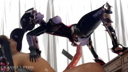 Widowmaker riding cock like a spider Deep anal