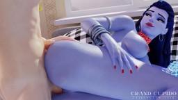 Widowmaker Anal in her Bedroom